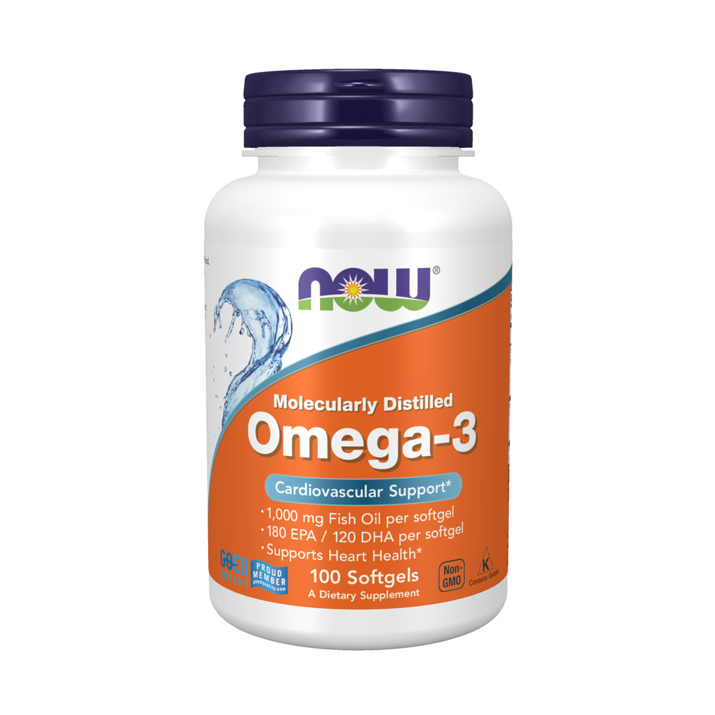 NOW Omega 3 gel hylki